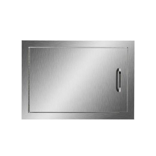 CO-Z Outdoor Kitchen Doors, 304 Brushed Stainless Steel Single Access Doors  for Outdoor Kitchen, Commercial BBQ Island, Grilling Station, Outside ...