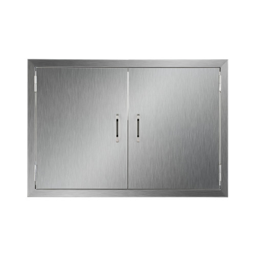 Co Z Outdoor Kitchen Doors 304 Brushed Stainless Steel Double Bbq Access For Commercial Island Grilling Station Outside