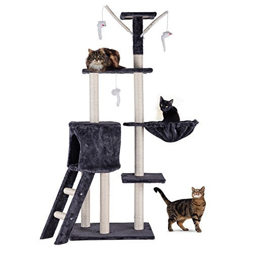 Incredible Co Z 5 Levels Cat Tower Tree House Kitty Scratcher Play House Furniture Stain Resistant Condo 5 Tiers With Toys Download Free Architecture Designs Scobabritishbridgeorg