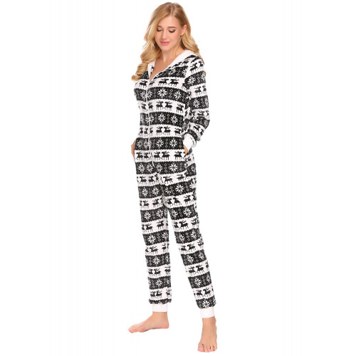 af67fe0097 Snagshout Pagacat Onesie Pajamas Women Christmas Sleepwear Hooded