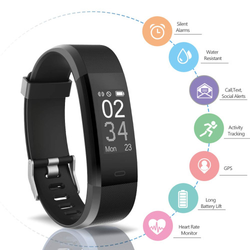 5513bd30397 Arbily Fitness Tracker Activity Tracker Watch with Heart Rate Monitor  Waterproof Smart Wristband with Pedometer Calorie Counter Call Message  Notification ...