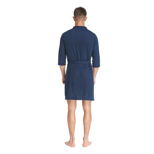 TIMSOPHIA Mens Bath Robe Kimono Bathrobe Waffle Weave Soft Hotel Spa Robe Lightweight Dressing Gown 3//4 Sleeve Knee Length