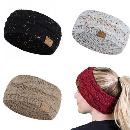 48ed4092 Dicesnow Women Winter Warm Beanie Headband Skiing Knitted Cap Ear Warmer  Headbands