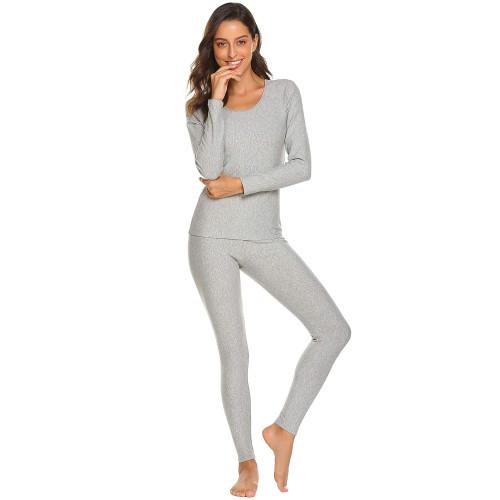 2efdf09bd7730b Ekouaer Womens Cotton Thermal Underwear Long Johns Winter Set Fleece Lined ,Lgt,XX-Large