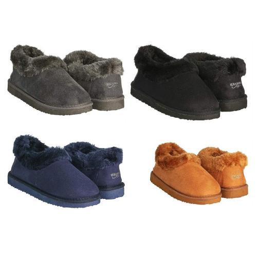 6ad9aa1cd0da Seranoma Women s Faux Fur Lining Indoor Outdoor Ankle Anti-Slip Boot