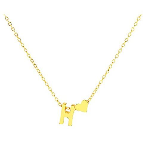 Snagshout heyuni exquisite heart alphabet pendant necklace with exquisite heart alphabet pendant necklace with english letter pendantgoldh mozeypictures Choice Image