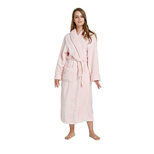 32f17795f9 TIMSOPHIA Women s Long Solid Color Fleece Robe