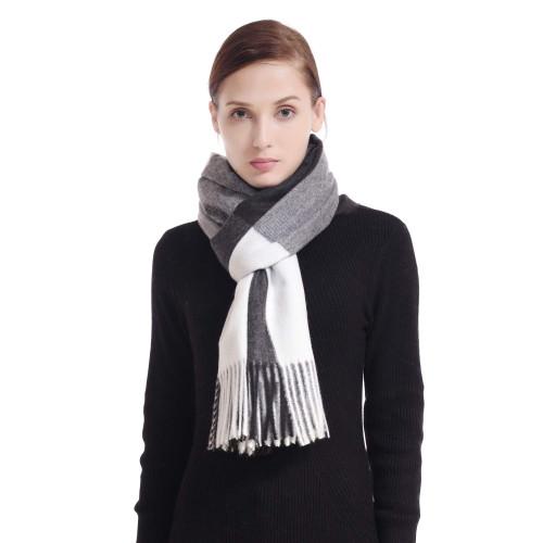 1dbd13587 60% Off Women's Cashmere Black White Tartan Shawl Wraps Gift Box Wrapped  Large Winter Pashmina Stole Scarf for Ladies