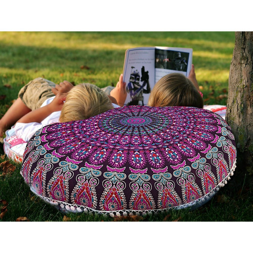 Snagshout | Large Pink Floor Pillow Cover Cushion Pouf Ottoman ...
