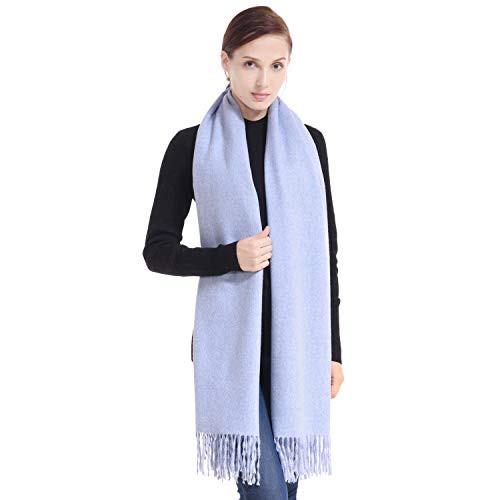 9cb1f2de2 75% Off LERDU Women's Light Blue Cashmere Shawl Wraps Gift Box Wrapped  Large Winter Pashmina Stole Scarf for Ladies