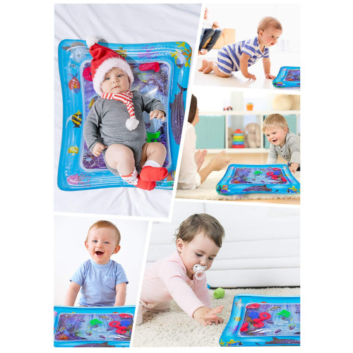 Houselog Inflatable Baby Water Play Mat and Tummy Time Mat That Leakproof and BPA Free for Infants /& Toddlers Perfect Early Development Ocean Toys for Children /& Kids